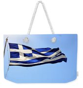 Greek Flag Weekender Tote Bag