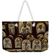 Greek Orthodox Church Icons Weekender Tote Bag by David Smith