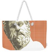 Greek Statue #1 - Orange Weekender Tote Bag