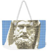 Greek Statue #3 - Blue Weekender Tote Bag