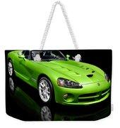 Green 2008 Dodge Viper Srt10 Roadster Weekender Tote Bag