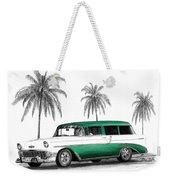 Green 56 Chevy Wagon Weekender Tote Bag