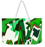 Green Abstract Squared #2 Weekender Tote Bag