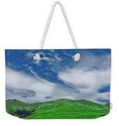 Green And Blue Landscape Weekender Tote Bag