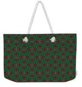 Green And Brown Chunky Cross Mirror Pattern Weekender Tote Bag