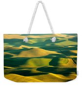 Green And Gold Acres Weekender Tote Bag
