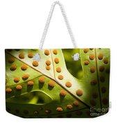 Green And Orange Leaf Weekender Tote Bag
