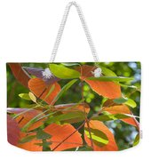 Green And Orange Leaves Weekender Tote Bag