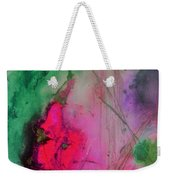 Green And Pink Weekender Tote Bag