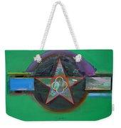 Green And Violet Weekender Tote Bag