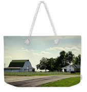 Green And White Farm Weekender Tote Bag