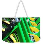 Green And Yellow Bicycles Weekender Tote Bag