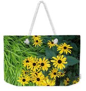 Green And Yellow Burst Weekender Tote Bag