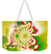 Green And Yellow Collide Weekender Tote Bag