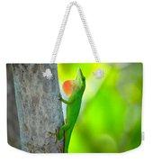 Green Anole Weekender Tote Bag