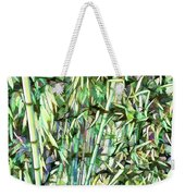Green Bamboo Tree Weekender Tote Bag