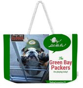 Green Bay Packers Weekender Tote Bag by Kathy Tarochione