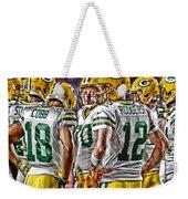 Green Bay Packers Team Art 2 Weekender Tote Bag