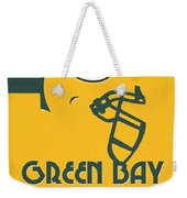 Green Bay Packers Team Vintage Art Weekender Tote Bag
