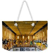 Green Bay Packers Uniforms Then And Now Weekender Tote Bag