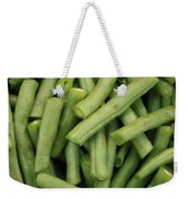 Green Beans Close-up Weekender Tote Bag