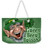 Green Beer Brigade Weekender Tote Bag