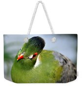 Green Bird Weekender Tote Bag