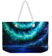 Green-blue Galaxy And Ocean. Planet Dzekhtsaghee Weekender Tote Bag