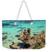 Green Blue Ocean Water And Rocks Weekender Tote Bag
