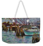 Green Boat At Rest- Nova Scotia Weekender Tote Bag