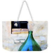 Green Bottle Italian Window Weekender Tote Bag