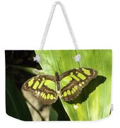 Green Butterfly Weekender Tote Bag