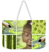 Green Collage Weekender Tote Bag