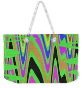 Green Color Abstract #140 Weekender Tote Bag