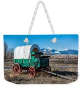 Green Covered Wagon Weekender Tote Bag