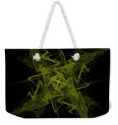 Green Crosshatch Scribble  Weekender Tote Bag