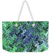 Green Crystal Digital Abstract Weekender Tote Bag