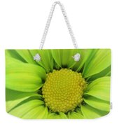 Green Daisy Photograph Weekender Tote Bag