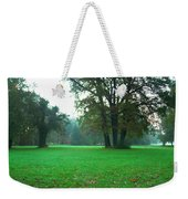 Green Dawn In Autumn Weekender Tote Bag