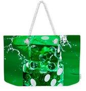 Green Dice Splash Weekender Tote Bag