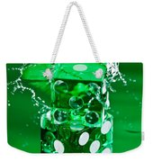 Green Dice Splash Weekender Tote Bag