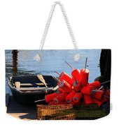 Green Dingy And Bouys Weekender Tote Bag