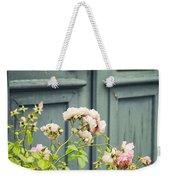 Green Door With Rosebush Weekender Tote Bag
