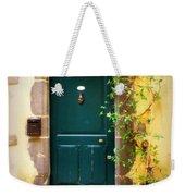 Green Door With Vine Weekender Tote Bag