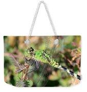 Green Dragonfly Macro Weekender Tote Bag
