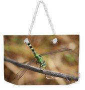 Green Dragonfly On Twig Weekender Tote Bag