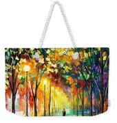 Green Dreams - Palette Knife Oil Painting On Canvas By Leonid Afremov Weekender Tote Bag