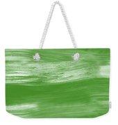 Green Drift- Abstract Art By Linda Woods Weekender Tote Bag