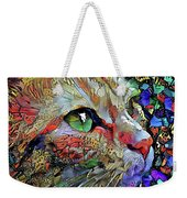 Green Eyed Orange Cat Dreaming Weekender Tote Bag