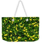 Green Field Of Yellow Flowers 4 Weekender Tote Bag